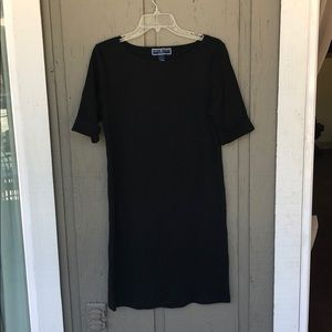 T-shirt dress. Never worn. Black.